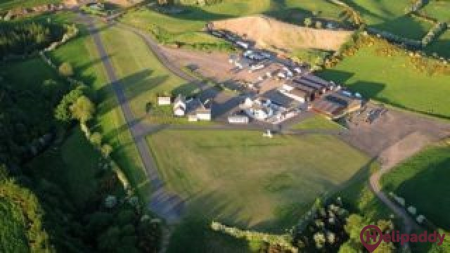 Carrickmore Aerodrome by helicopter