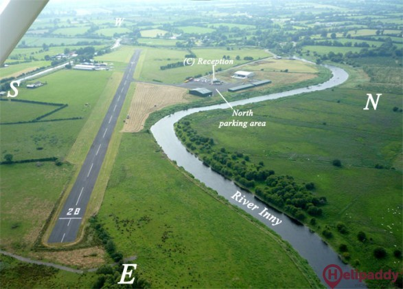 Abbeyshrule Aerodrome by helicopter