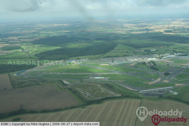 Silverstone Heliport by helicopter