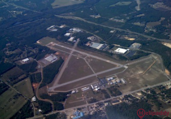 Aiken Regional Airport by helicopter