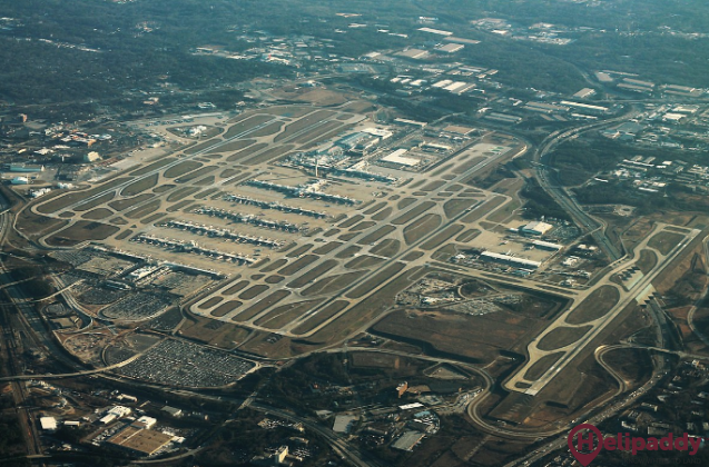 Hartsfield-jackson Atlanta International by helicopter