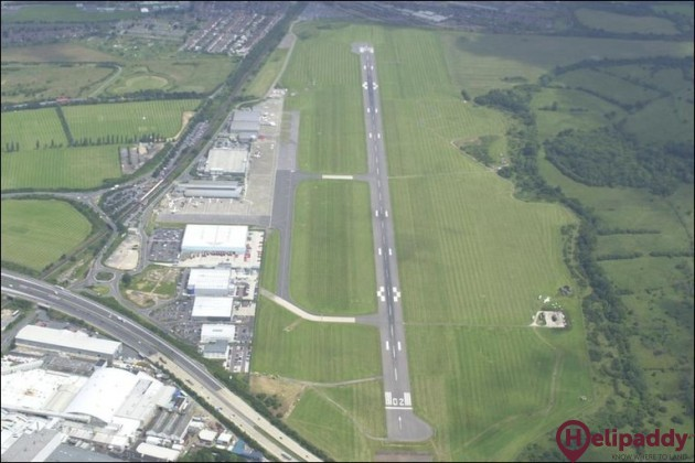 Southampton Airport by helicopter
