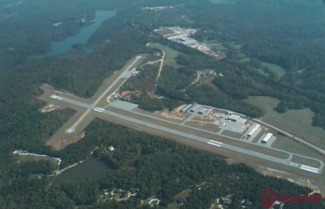 Toccoa RG Letourneau Field by helicopter