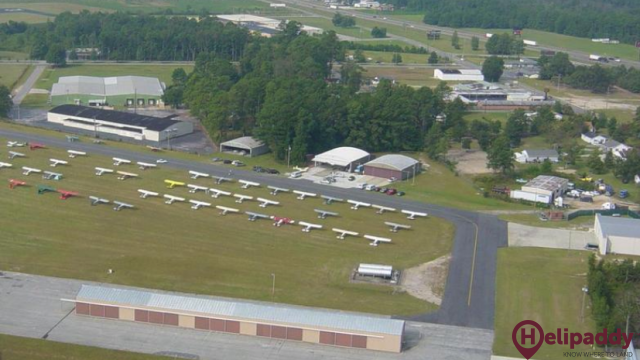 Lumberton by helicopter