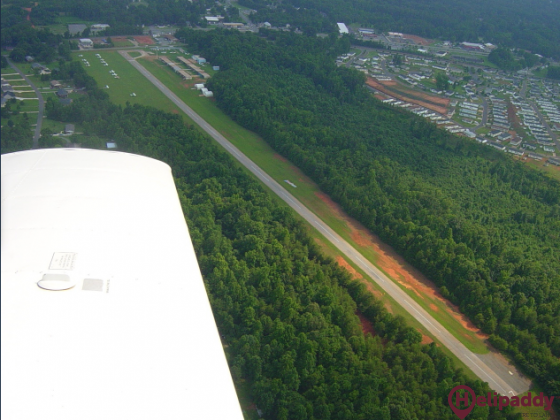 Wilgrove Air Park by helicopter