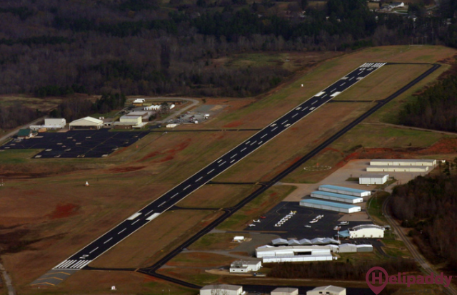 Mid-Carolina Regional Airport  by helicopter