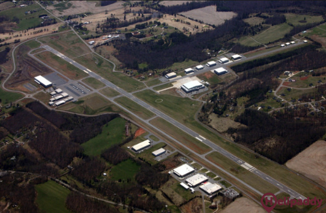 Statesville Regional Airport by helicopter