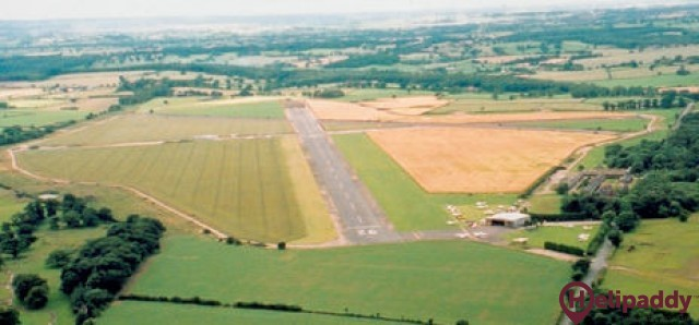 Tatenhill Airfield by helicopter