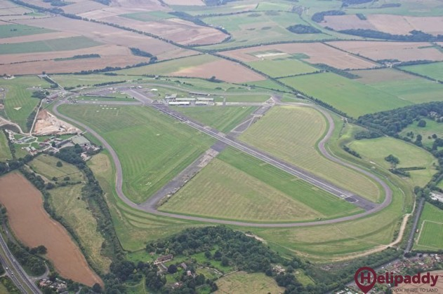 Thruxton Airfield by helicopter