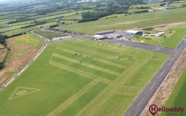 Turweston Aerodrome by helicopter