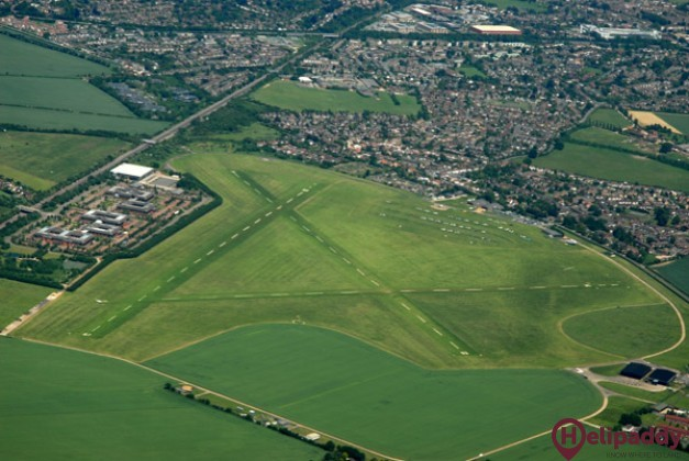 White Waltham Airfield by helicopter