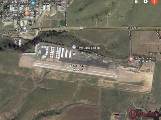 Santa Ynez by helicopter