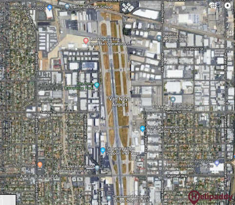 Van Nuys by helicopter