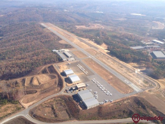 Cherokee County Airport by helicopter