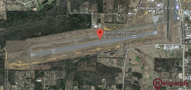 Batesville Regional Airport by helicopter