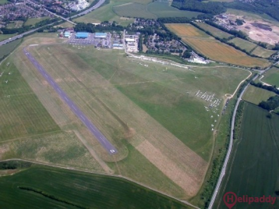 Wycombe Air Park by helicopter