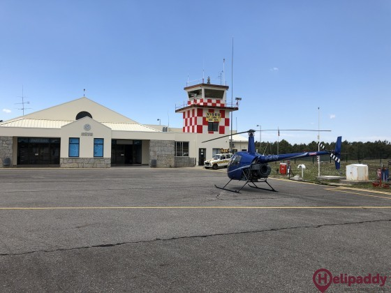 Viseu Airport by helicopter