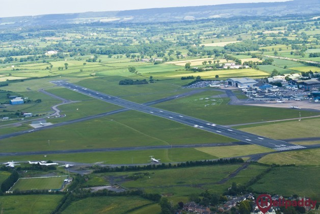 Exeter Airport by helicopter