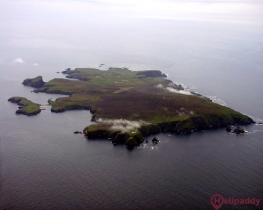 Fair Isle  by helicopter