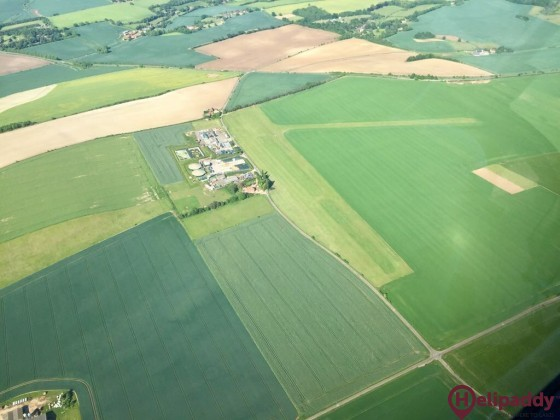 Chiltern Park Aerodrome by helicopter
