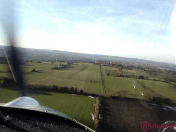 Coal Aston Airstrip by helicopter