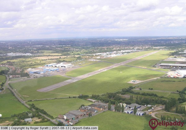 Coventry Airport by helicopter