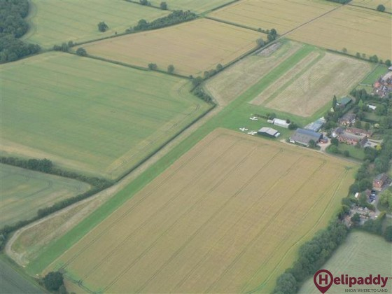 Defford Airstrip by helicopter
