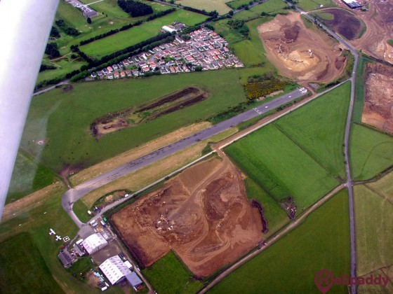 Crosland Moor Airfield by helicopter