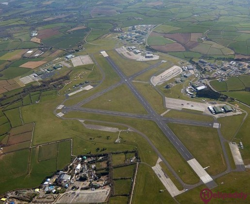 Culdrose Airfield by helicopter