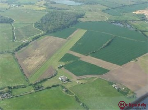Damyns Hall Airfield by helicopter