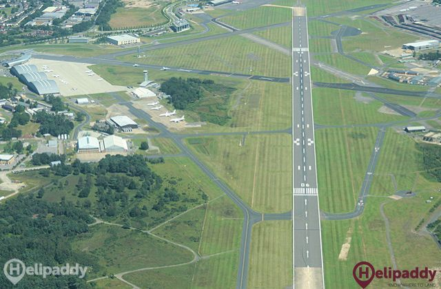 Farnborough by helicopter