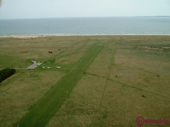 Dornoch Airfield by helicopter
