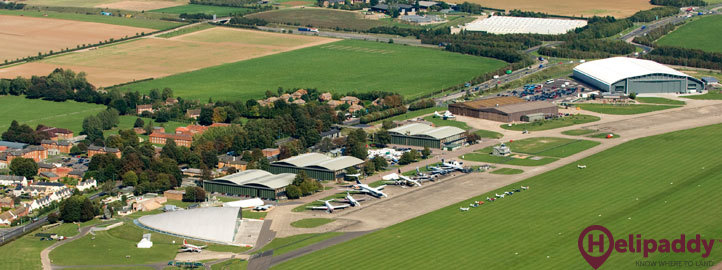 Duxford by helicopter
