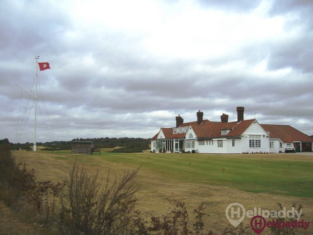 Aldeburgh Golf Club by helicopter