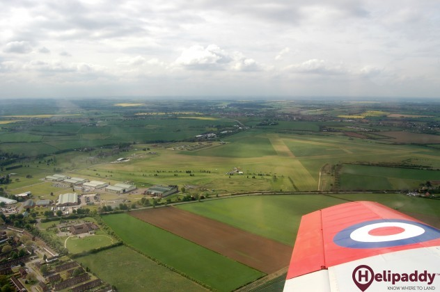 Henlow Airfield by helicopter