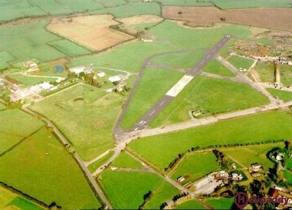 Henstridge Airfield by helicopter