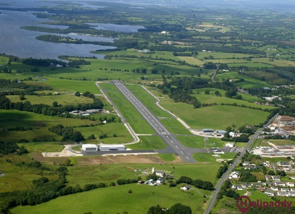 Enniskillen (St. Angelo) by helicopter
