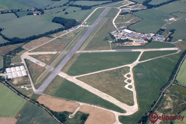Enstone Airfield  by helicopter