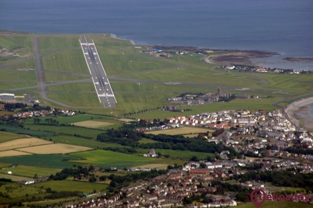 Isle of Man Airport by helicopter