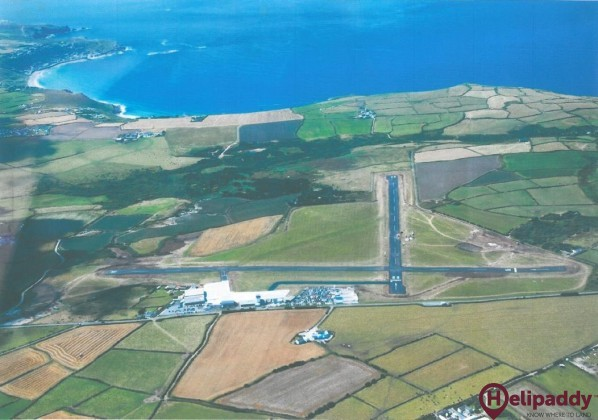 Land's End Airport by helicopter