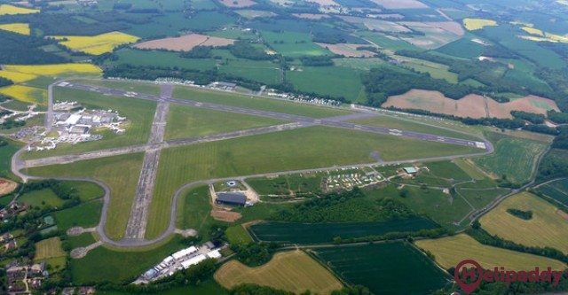 Lasham Airfield by helicopter