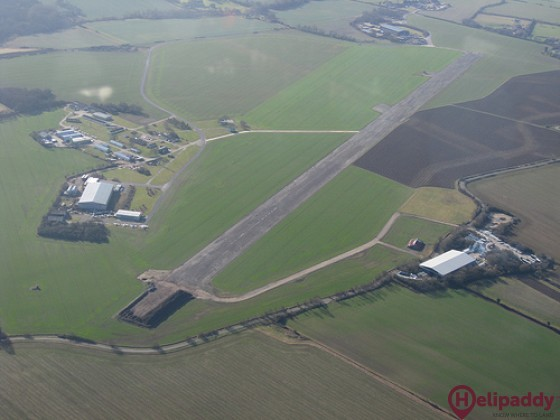 Little Staughton Airfield by helicopter