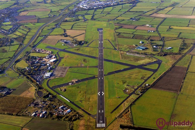 City of Derry Airport by helicopter