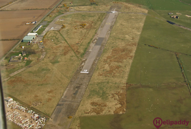 Longside Airfield by helicopter