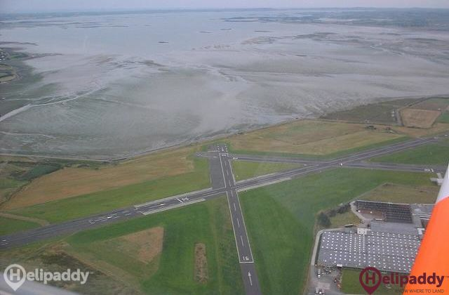 Newtownards by helicopter