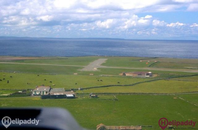 North Ronaldsay by helicopter