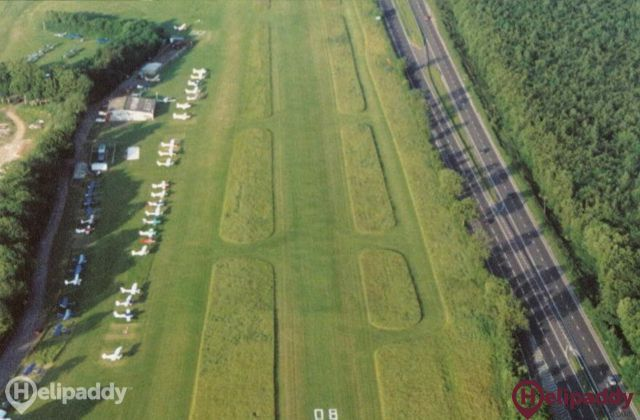 Popham Airfield by helicopter