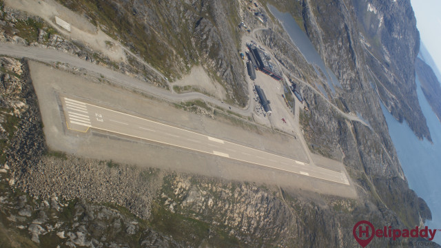 Nuuk Airport  by helicopter