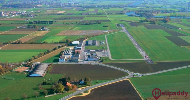 Grenchen Airport by helicopter