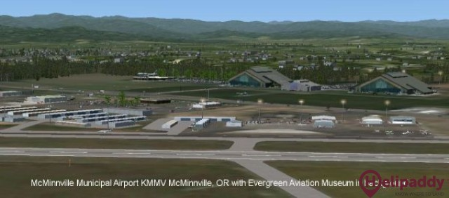 McMinnville Municipal Airport by helicopter